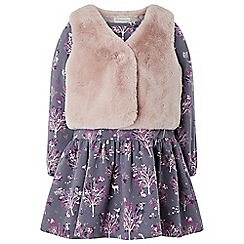 Monsoon - Girls purple baby 'Polly' dress and gilet