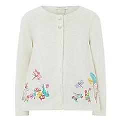 Monsoon - Girls' white fairy 'Belle' cardigan