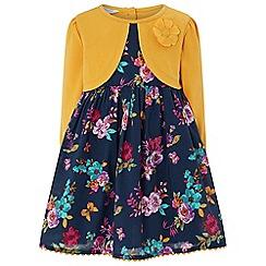 Monsoon - Girls' yellow 'Agatha' 2 in 1 dress