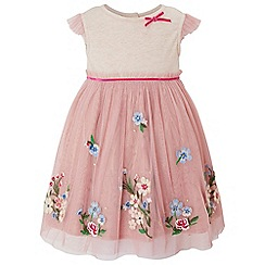 Monsoon - Girls' pink 'Abigail' disco dress