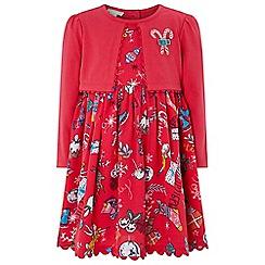 Monsoon - Baby girls' red 'Jingles' 2 in 1 dress