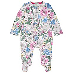 Monsoon - Baby girls' pink newborn lily sleepsuit