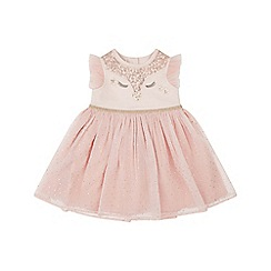 Monsoon - Baby girls' Pink new born baby 'Florence' dress