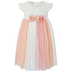 Monsoon - Baby girls' Pink baby 'peony' lace dress