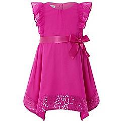 Monsoon - Dark pink baby 'Erin' sparkle dress
