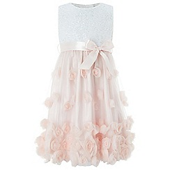 Monsoon - Girls' Pink 'Ianthe' sparkle dress