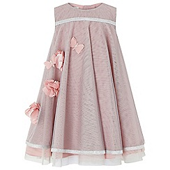 Monsoon - Baby girls' Pink baby 'dragonfly' sparkle dress