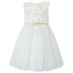Monsoon - Baby girls' white papillon blossom dress