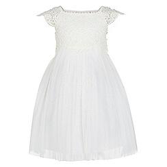 Monsoon - Girls white 'Estella' dress