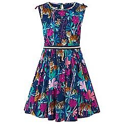 Monsoon - Girls blue 'Tessa' tiger dress
