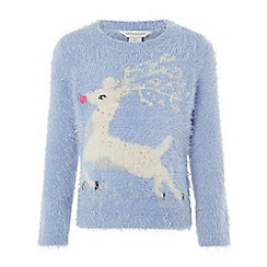 Monsoon - Blue roxy reindeer jumper