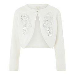 Monsoon - Girls'white hartley butterfly bolero