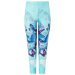 Monsoon - Girls' blue fenisia placement legging