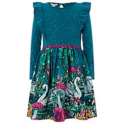 Monsoon - Girls' green 'adena' 2 in 1 dress