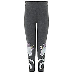 Monsoon - Girls' grey unicorn sequin legging
