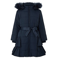 Monsoon - Girls' blue lola padded coat