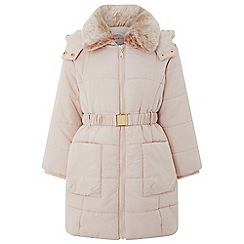 Monsoon - Girls' Pink 'Penelope' padded coat