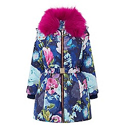 Monsoon - Girls' blue remi padded coat