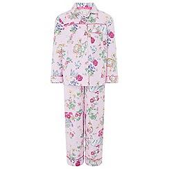 Monsoon - Girls pink 'Avery' flannel pyjama set