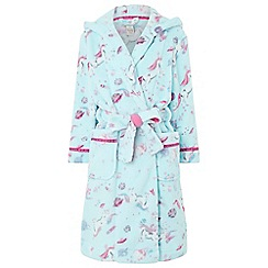 Monsoon - Girls blue 'Veronica' chunky dressing gowns