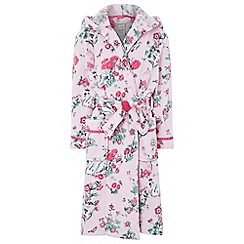 Monsoon - Girls pink 'Avery' chunky dressing gowns
