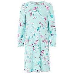 Monsoon - Girls blue 'Veronica' unicorn nightdress