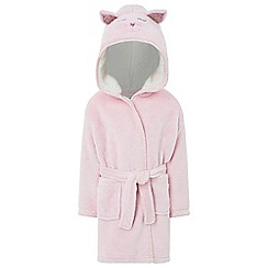 Monsoon - Girls pink baby kitty dressing gowns