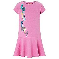Monsoon - Girls' pink let's pop sweat dress