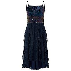 Monsoon - Girls blue 'Miami' High low dress
