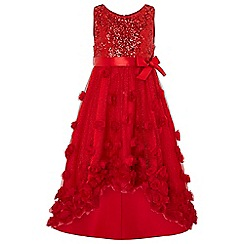 Monsoon - Girls' red 'Ianthe' sparkle dress