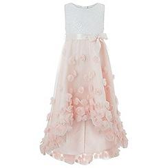 Monsoon - Girls' pink 'Ianthe' sparkle dress