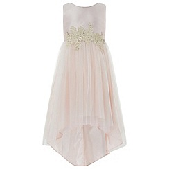 Monsoon - Girls' pink 'Serena' high low dress