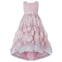 Monsoon - Girls' pink 'Cascadia rose' dress