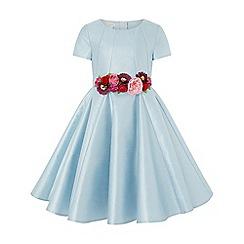 Monsoon - Girls' blue sheena statement flower dress