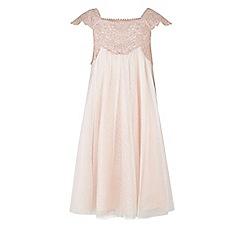 Monsoon - Girls pink Estella sparkle dress
