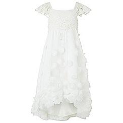 Monsoon - White 'Estella' roses high-low dress