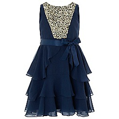 Monsoon - Girls' blue 'Martella' dress