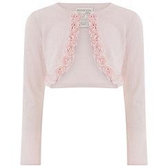 Monsoon - Girls' pink kali rose cardigan