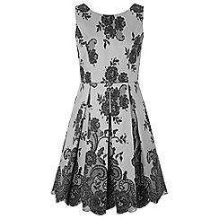 Monsoon - Girls' Grey 'Barcelona' sparkle dress