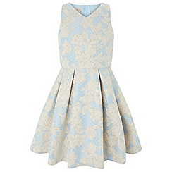 Monsoon - Girls' Blue 'oriental' jacquard dress