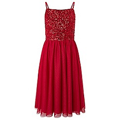 Monsoon - Girls' Red 'leia' prom dress