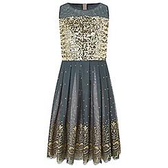 Monsoon - Girls' Gold 'josephine' sparkle dress