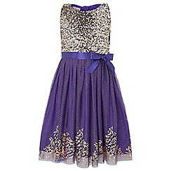 Monsoon - Girls' blue princess glitter dress