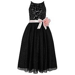 Monsoon - Girls' black 'Truth' sequin maxi dress