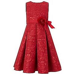Monsoon - Girls' red 'Ruby' jacquard dress