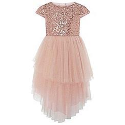 Monsoon - Girls' gold 'Safire' sparkle dress
