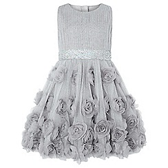 Monsoon - Girls' Silver 'rosie' glitter dress