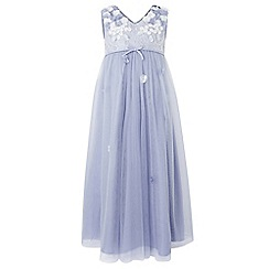 Monsoon - Girls' Blue 'lilly' maxi dress