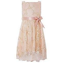 Monsoon - Girls' gold 'Magnolia' sparkle dress