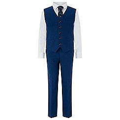 Monsoon - Blue 'Oscar' complete waistcoat set